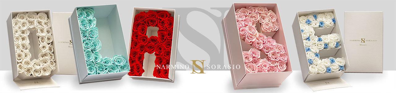 Frise avec boites à fleurs en formes de lettres